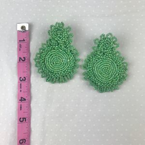 "Boutique Jewelry - 2 for $30 NWT ""Katie"" Beaded Fringe Earrings Green"